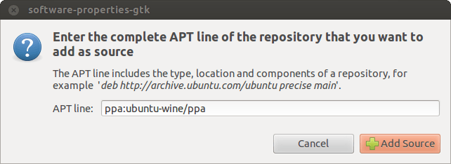 Installing Wine on Ubuntu - Add ATP